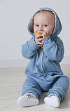 Комбинезон слип детский с подкладкой на молнии, хлопок 100%, рост 92, возраст 18-24 мес., фото 3