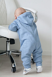 Комбинезон слип детский с подкладкой на молнии, хлопок 100%, рост 92, возраст 18-24 мес., фото 4