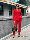 Женский брючный костюм с асимметричным пиджаком 17kos281, фото 2