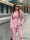 Женский брючный костюм с асимметричным пиджаком 17kos281, фото 3