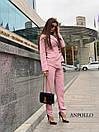 Женский брючный костюм с асимметричным пиджаком 17kos281, фото 5