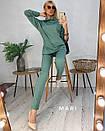 Женский трикотажный брючный костюм с удлиненной свободной кофтой 63kos282, фото 2