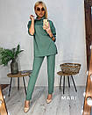 Женский трикотажный брючный костюм с удлиненной свободной кофтой 63kos282, фото 3