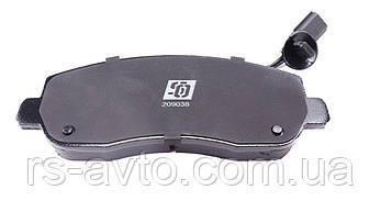 Колодки тормозные (передние) Renault Master/Opel Movano 10- (с датчиком), фото 2