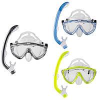 Набор для плавания подростковый маска с трубкой Dolvor M171P+SN59P