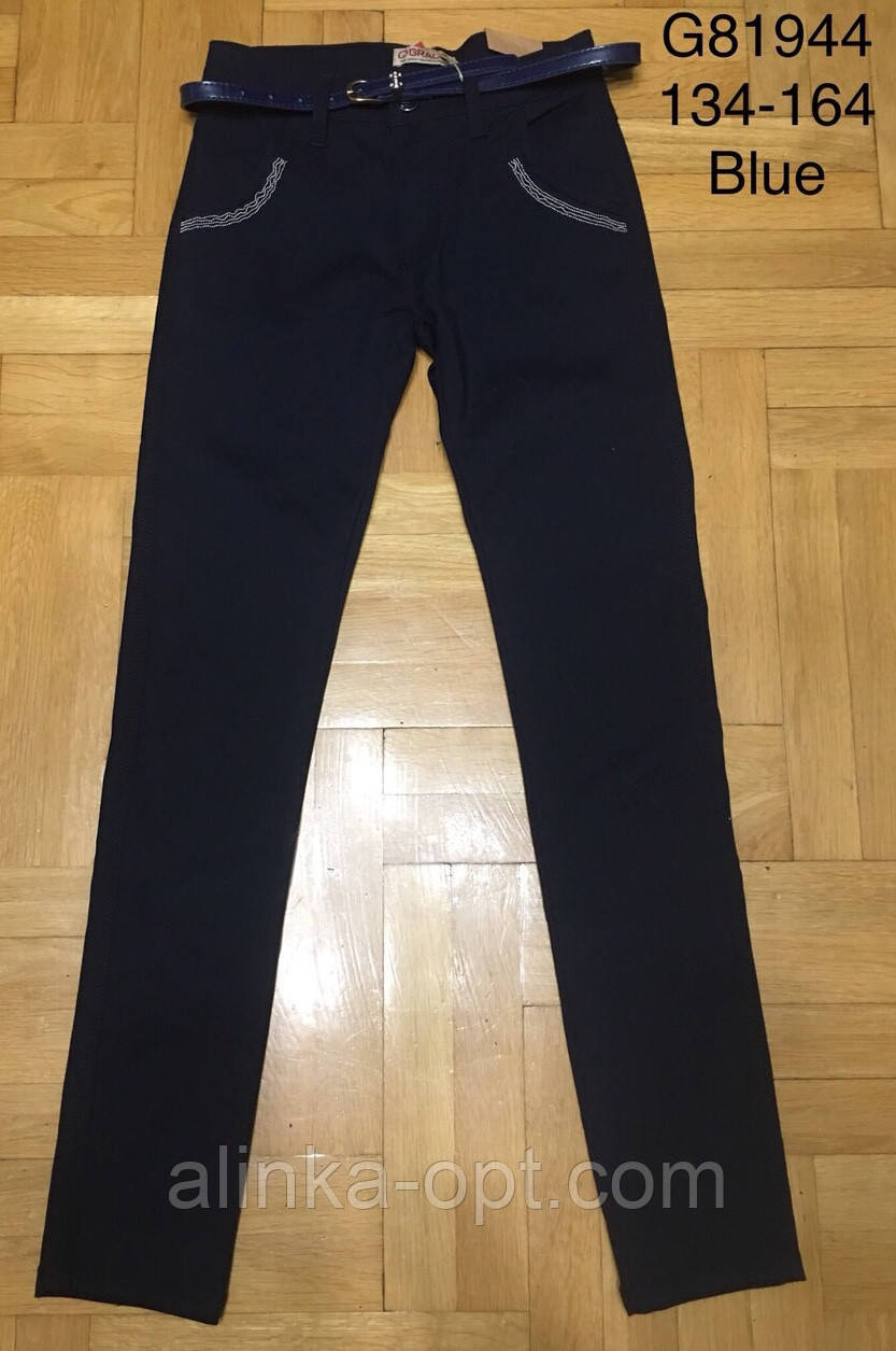 Котоновые брюки для девочек Grace оптом , 134-164 рр.