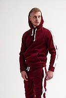 Спортивный костюм мужской ЗИМНИЙ с лампасами / ТОП качество! бордовый
