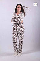 Пижама женская махровая теплая 44-56р., фото 1