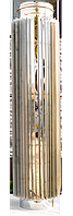 Труба радиатор дымоходная L 1000 мм нерж стенка 0,8 мм