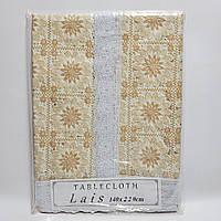 """Клеенчатая скатерть Лейс """"Lais"""" Турция (140х220) код 19071"""