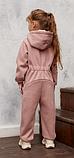 Комбинезон трикотажный подростковый с капюшоном на молнии, хлопок, рост 122, возраст 6-8 лет, фото 2