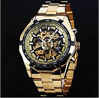 Чоловічі механічні наручні годинники в стилі Winner Skeleton Luxury Gold