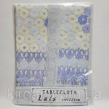"""Клеенчатая скатерть , белая """"Lais"""" Турция (140х220) код 19077, фото 2"""
