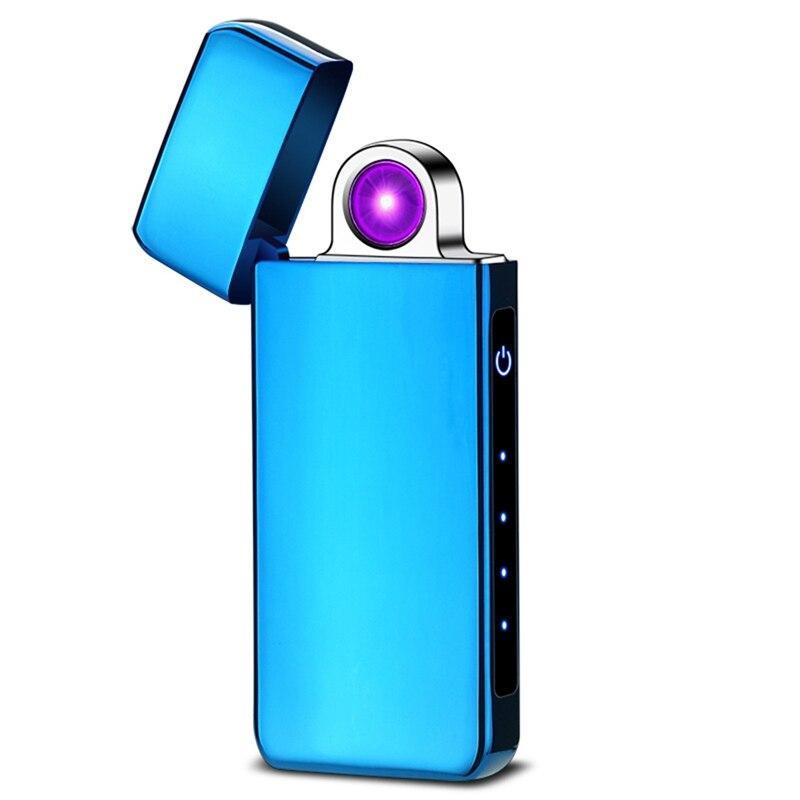 Круговая дуга! Электроимпульсная USB зажигалка Portal blue 097_3
