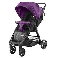Детская прогулочная коляска фиолетовая Carrello Maestro черная рама чехол на ножки подстаканник дождевик