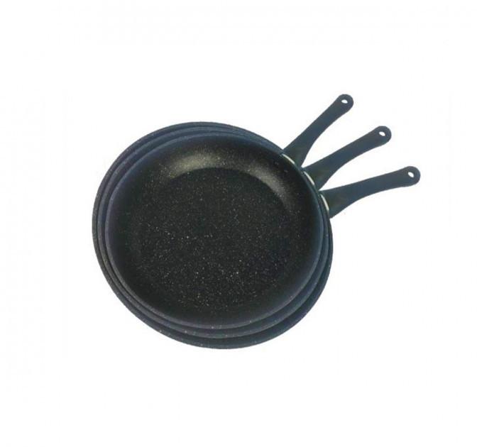 Набор сковородок Benson BN-506 3 шт мраморным покрытием (24см, 26см, 28см)