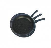 Набор сковородок Benson BN-506 3 шт мраморным покрытием (24см, 26см, 28см), фото 1