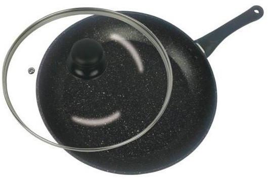 Сковорідка Benson BN-342 28 см з кришкою і мармуровим покриттям