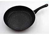 Сковорідка Benson BN-342 28 см з кришкою і мармуровим покриттям, фото 4