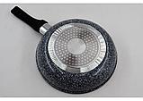 Сковорідка Benson BN-520 28*8 см глибока з кришкою і гранітним покриттям, фото 3