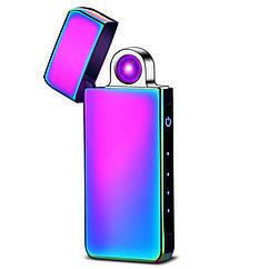Круговая дуга! Электроимпульсная USB зажигалка Portal chameleon 097_2