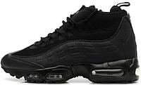 """Мужские зимние кроссовки Nike Air Max 95 Sneakerboot """"Black"""" (в стиле Найк)"""