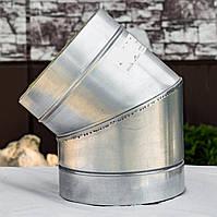 Колено дымохода 45° нерж/оц 0,8 мм
