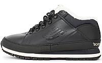Мужские зимние кроссовки New Balance 754 'Black' (в стиле Нью Баланс) с мехом