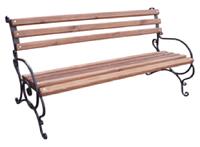 """Лавка садово-парковая с подлокотником """"Запад"""" с металлическими ножками №2(9.1)"""