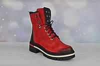 Красные женские зимние ботинки MOLLY BESSA ТУРЦИЯ