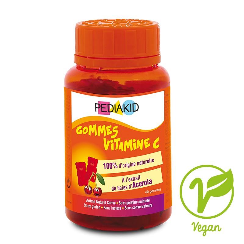 Медвежуйки  для детей Витамин C натуральный Pediakid,60 шт