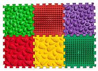 Массажный коврик Ortek (Ортек) Микс Пазлы (6 элементов) 7790