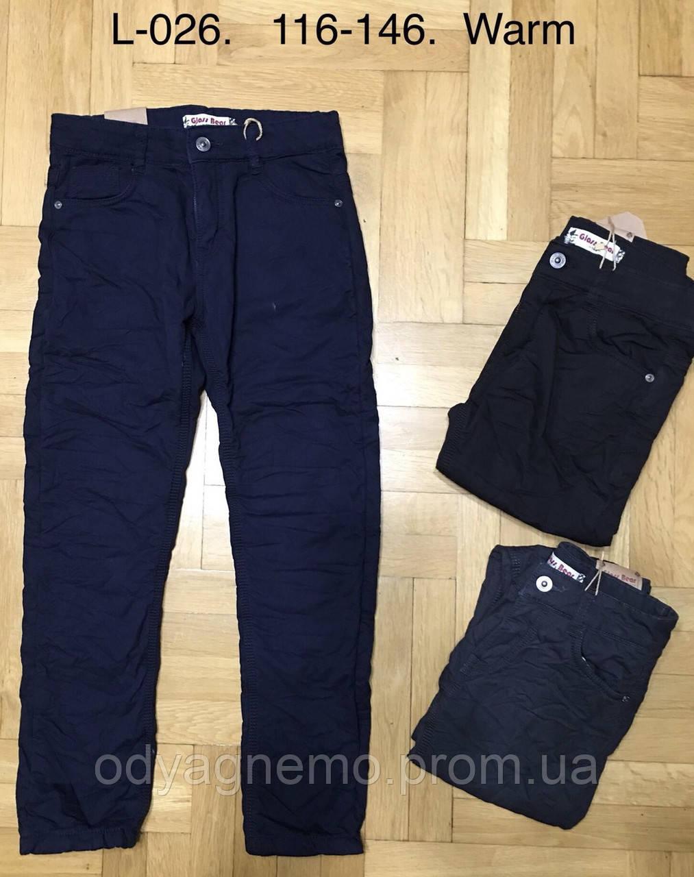 Котоновые брюки на флисе для мальчиков Glass Bear оптом,116-146 рр. Артикул: L026