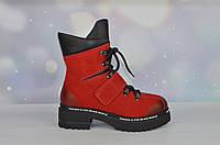 Красные женские зимние ботинки Bellini ХИТ ПРОДАЖ