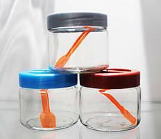 Набор стеклянных банок Trio с ложками, 3 шт по 280 мл EverGlass 3280-К
