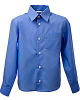 Школьная рубашка для мальчика Синяя