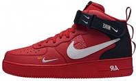 """Мужские зимние кроссовки Nike Air Force 1 Mid '07 LV8  """"Black/Write"""" (в стиле Найк)"""