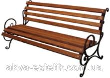 """Лавка садово-парковая с подлокотником """"Запад"""" с металлическими ножками №1(10.1)"""
