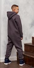 Комбинезон трикотажный подростковый с капюшоном на молнии, хлопок, рост 128, возраст 7-8 лет