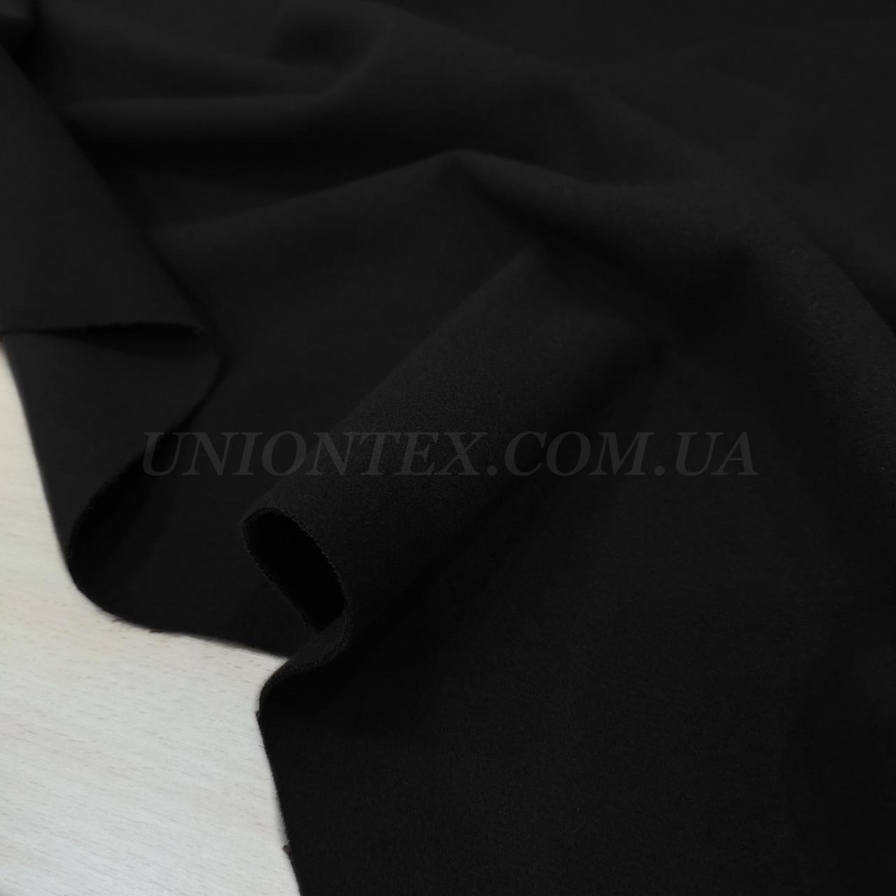 Ткань пальтовая кашемир черный