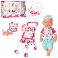 Кукла-Пупс 36см с коляской, детский шезлонг,сумка. Код 86916, фото 1