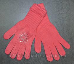 Рукавички для дівчинки Britta коралові (MargotBis, Польща)