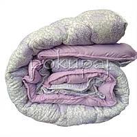 Одеяло зима лето четыре сезона 150*210 полуторное односпальное светлое фиолетовое