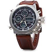 Мужские наручные часы AMST 3003 Brown Black коричневые с черным