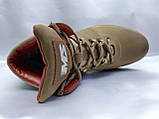 Стильні зимові шкіряні оливкові черевики Madoks, фото 7