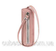 Женская кожаная ключница 3.0 тубус (розовая)