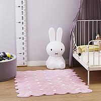 Ковер для комнаты хлопковый антискользящий Розовое печенье 150х110 см