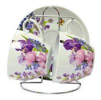 Набор чайный 5 предметов Пурпуровые цветы Оселя 24-198-005