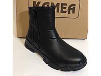 Женские кожаные натуральные ботинки на шерсти две молнии тм. Камеа, фото 1
