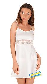Шелковая ночная рубашка с кружевом Martelle Lingerie (молочная)